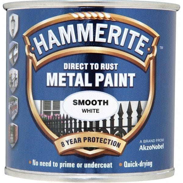 Direct To Rust Metal Paint – Smooth White – 250ml